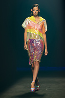 Custo Barcelona's show during the MBFW Madrid (Mercedes Benz Fashion Week Madrid) Spring/Summer at Ifema in Madrid on September 12, 2020 . **FOR USA ONLY** Credit: Action Press/MediaPunch