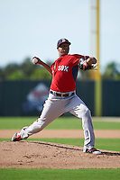 Boston Red Sox pitcher Anderson Espinoza (56) during an instructional league game against the Minnesota Twins on September 26, 2015 at CenturyLink Sports Complex in Fort Myers, Florida.  (Mike Janes/Four Seam Images)