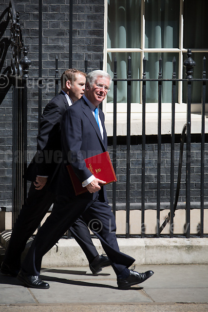 Michael Fallon MP (Secretary of State for Defence).<br />