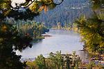 The Clark Fork River west of Missoula, Montana