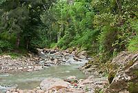 Meleotigi River, near the village of Eraulo in the Ermera District of Timor-Leste (East Timor).