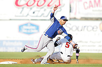 May 9, 2010: Chris Gutierrez of the Inland Empire 66'ers during game against the Lancaster JetHawks at Clear Channel Stadium in Lancaster,CA.  Photo by Larry Goren/Four Seam Images