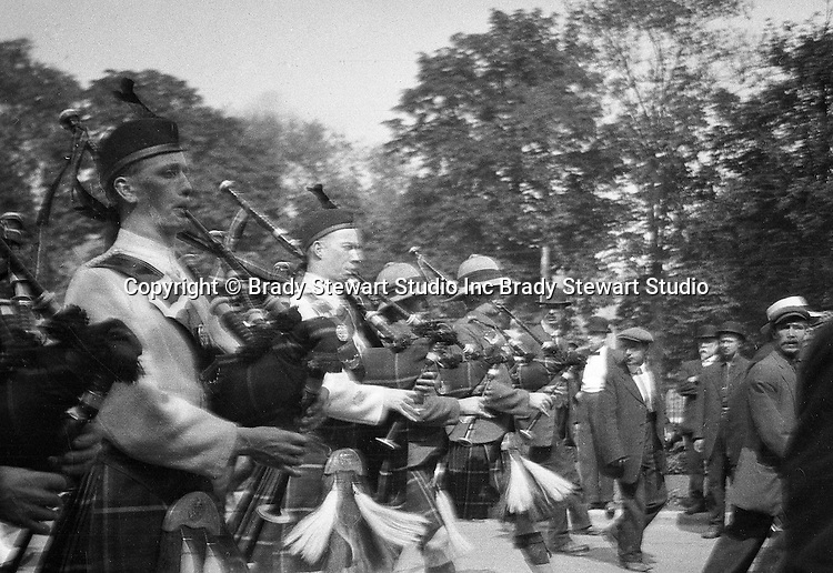 Toronto Ontario:  One of the parades celebrating the 100th Anniversary of the Battle of Lundy's Lane.  Bagpipers leading the way.