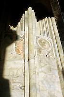 Affreschi sulla facciata della Basilica di Santa Maria Maggiore a Bergamo. Frescoes on the facade of Santa Maria Maggiore's Basilica (St. Mary Major) in Bergamo.<br /> UPDATE IMAGES PRESS/Riccardo De Luca