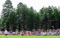Jul 31, 2009; Flagstaff, AZ, USA; Fans fill the sidelines during the Arizona Cardinals practice at training camp on the campus of Northern Arizona University. Mandatory Credit: Mark J. Rebilas-