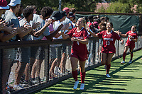 STANFORD, CA - SEPTEMBER 12: Julia Leontini after a game between Loyola Marymount University and Stanford University at Cagan Stadium on September 12, 2021 in Stanford, California.