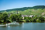 Deutschland, Rheinland-Pfalz, Moseltal, Mosel beim Weinort  Wolf, Stadtteil von Traben-Trarbach | Germany, Rhineland-Palatinate, Moselle Valley with wine villages Wolf, district of Traben-Trarbach