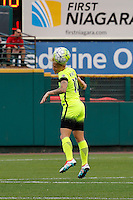 Rochester, NY - Saturday July 09, 2016: Seattle Reign FC midfielder Jessica Fishlock (10) during a regular season National Women's Soccer League (NWSL) match between the Western New York Flash and the Seattle Reign FC at Frontier Field.