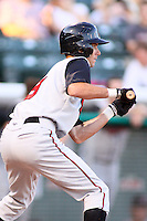 August 10, 2009: John Raburn of the Nashville Sounds, Pacific Cost League Triple A affiliate of the Milwaukee Brewers, during a game at the Spring Mobile Ballpark in Salt Lake City, UT.  Photo by:  Matthew Sauk/Four Seam Images