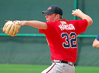 14 March 2007:  RHP Tommy Hanson of the Atlanta Braves at their Spring Training camp at the Disney Wide World of Sports complex in Kissimmee, Fla. Photo: Tom Priddy/Four Seam Images