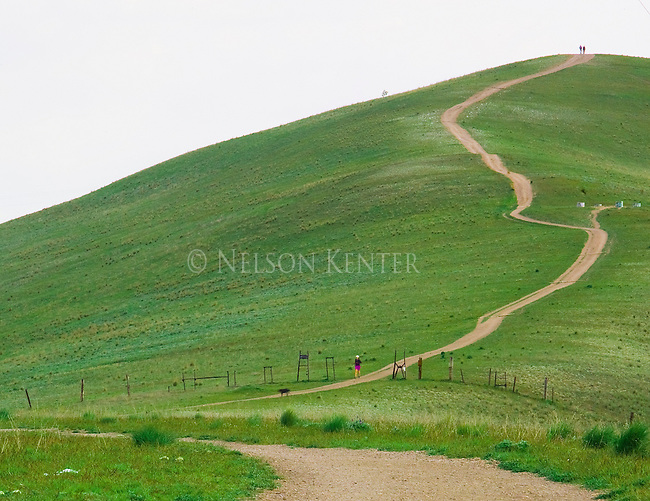 The trail on Waterworks Hill in the north hills above Missoula, Montana