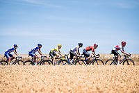 yellow jersey / GC leader Julian Alaphilippe (FRA/Deceuninck - Quick-Step) rolling in the peloton<br /> <br /> Stage 4: Reims to Nancy(215km)<br /> 106th Tour de France 2019 (2.UWT)<br /> <br /> ©kramon