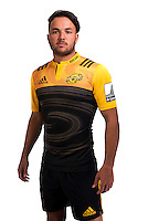 Jamison Gibson-Park. Hurricanes Super Rugby official headshots at Rugby League Park, Wellington, New Zealand on Wednesday, 6 January 2016. Photo: Dave Lintott / lintottphoto.co.nz