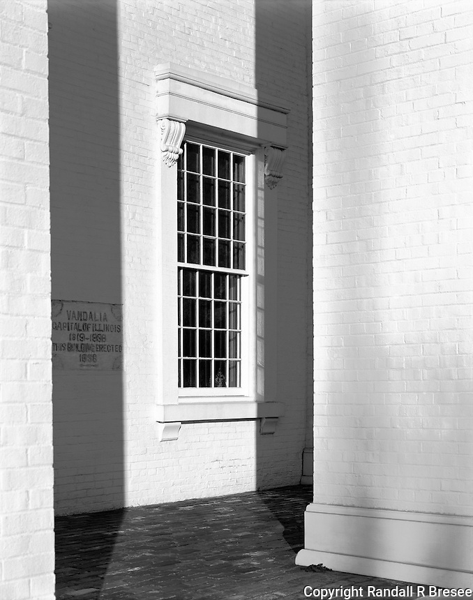 """""""A Front Window of the State Capitol Building"""" <br /> Vandalia, Illinois<br /> <br /> Vandalia was the capitol of Illinois from 1819 until 1839. This photograph shows a front window of the Capitol Building that was built in 1836."""