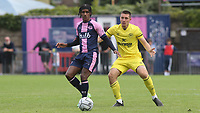AJ Harris-Sealy of Dulwich Hamlet in action during Dulwich Hamlet vs Brentford B, Friendly Match Football at Champion Hill Stadium on 31st July 2021