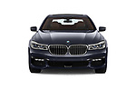 Car photography straight front view of a 2018 BMW 7 Series M Sport 4 Door Sedan