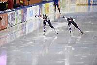 SCHAATSEN: HEERENVEEN: 01-11-2020, IJsstadion Thialf, Daikin NK Afstanden 2020, Dione Voskamp en Helga Drost, ©foto Martin de Jong