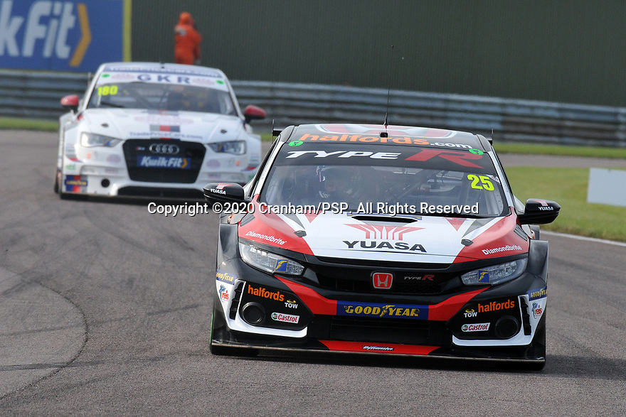 Round 5 of the 2020 British Touring Car Championship. #25 Matt Neal. Halfords Yuasa Racing. Honda Civic Type R.