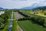 Äule, Binnenkanal, Rhein, Gampriner See, Gamprin, Liechtenstein