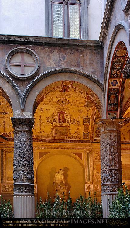 Samson and the Philistine daVinci Cortile (Courtyard) Michelozzo Palazzo Vecchio Florence