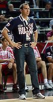 David BLATT (Russia) head coach, reacts  during the quarter-final World championship basketball match against usa in Istanbul, USA-Russia, Turkey on Thursday, Sep. 09, 2010..