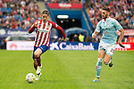 Atletico de Madrid's Fernando Torres and Celta de Vigo's Sergi Gomez during La Liga Match at Vicente Calderon Stadium in Madrid. May 14, 2016. (ALTERPHOTOS/BorjaB.Hojas)
