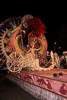 Carnival queen candidate at Carnival of Santa Cruz de Tenerife, Canary Islands, Spain