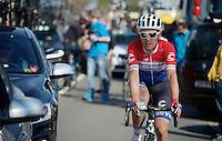 Dutch National Champion Tom-Jelte Slagter (NLD/Cannondale-Garmin) after finishing<br /> <br /> 50th Amstel Gold Race 2015
