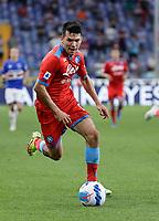 23rd September 2021; G.Ferraris Stadium, Genoa, Italy; Serie A football, Sampdoria versus Napoli : Hirving Lozano of Napoli breaks forward on the ball