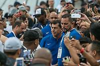 SÃO PAULO, SP, 13.01.2019: CORINTHIANS-SANTOS - O técnico do Corinthians Fábio Carille, durante partida amistosa entre Corinthians e Santos, na Arena Corinthians, em São Paulo (SP), neste domingo (13). (Foto: Marivaldo Oliveira /Código19)