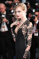 Cara Delevingne .Cannes 15/5/2013.Festival del Cinema The Great Gatsby - Il grande Gatsby .Foto Panoramic / Insidefoto .ITALY ONLY