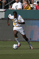 Quavas Kirk dribble the ball upfield. The Los Angeles Galaxy defeated Real Salt Lake, 3-2, at the Home Depot Center in Carson, CA on Sunday, June 17, 2007.