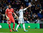 Real Madrid's Sergio Ramos with Kiko Casilla (l) and UD Las Palmas'  during La Liga match. November 5,2017. (ALTERPHOTOS/Inma Garcia)