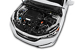 Car Stock 2017 Honda Accord EX-L 4 Door Sedan Engine  high angle detail view