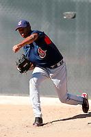 Kelvin De La Cruz -  Cleveland Indians - 2009 spring training.Photo by:  Bill Mitchell/Four Seam Images