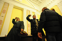 Protesters storm the Kiev city council building, venting their anger over the Ukrainian  government's decision to stall on a deal that would bring closer ties with the European Union.