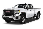 2020 GMC Sierra-3500HD - 4 Door Pick-up Angular Front automotive stock photos of front three quarter view