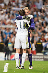 Real Madrid's Gareth Bale and Manchester City's Joe Hart during Champions League 2015/2016 Semi-Finals 2nd leg match at Santiago Bernabeu in Madrid. May 04, 2016. (ALTERPHOTOS/BorjaB.Hojas)