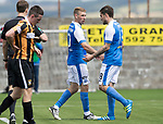 East Fife v St Johnstone…29.07.17… Bayview… Pre-Season Friendly<br />David Wotherspoon celebrates scoring saints second goal with Paul Paton<br />Picture by Graeme Hart.<br />Copyright Perthshire Picture Agency<br />Tel: 01738 623350  Mobile: 07990 594431