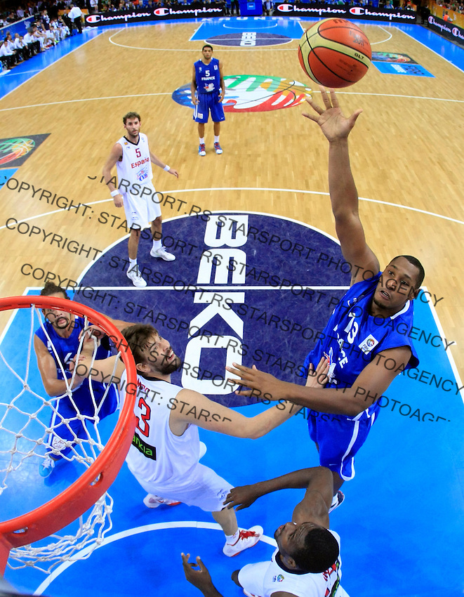 French national basketball team player Diaw Boris during final Eurobasket 2011 game between Spain and France in Kaunas, Lithuania, Sunday, September 18, 2011. (photo: Pedja Milosavljevic)