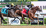 July 31, 2021: Lexitonian #1, ridden by jockey Jose Lezcano battles back against #9 Special Reserve and jockey Joel Rosario to win the Grade 1 Alfred G. Vanderbilt Handicap at Saratoga Race Course in Saratoga Springs, N.Y. on July 31, 2021. Rob Simmons/Eclipse Sportswire/CSM