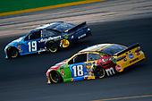 #19: Martin Truex Jr., Joe Gibbs Racing, Toyota Camry Auto Owners Insurance and #18: Kyle Busch, Joe Gibbs Racing, Toyota Camry M&M's Toyota Camry