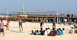Cabo Verde, Kaap Verdie, KaapVerdie, sal kaapverdie santa maria 2017<br /> Santa Maria, officieel  is een plaats in het zuiden van het Kaapverdische eiland Sal met 6.272 inwoners. Met de opkomst van het toerisme heeft de plaats bekendheid gekregen en is het toerisme de voornaamse inkomstenbron<br /> Kaapverdië, dat behoort tot de geografische regio Ilhas de Barlavento<br />   foto  Michael Kooren<br /> strand Santa Maria  beach boats swimming, clear water, sunshine, reflections , fun, sun ,  beach volleyball
