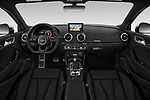 Stock photo of straight dashboard view of 2019 Audi RS-3 4WD 4 Door Sedan Dashboard