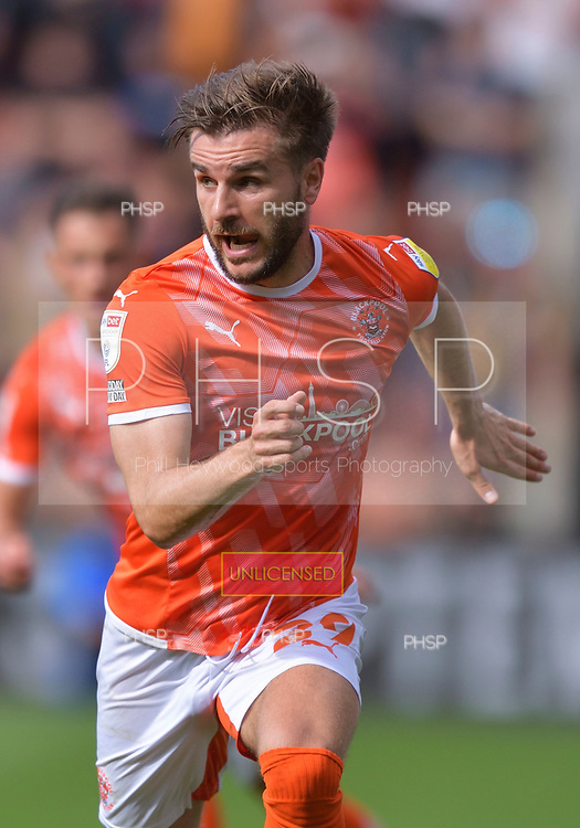 11/09/2021 Sky Bet Championship Blackpool v Fulham<br /> <br /> Luke Garbutt, Blackpool FC