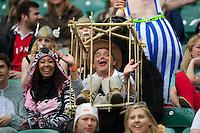 Fans enjoying the safari theme at the iRB Marriott London Sevens at Twickenham on Saturday 11th May 2013 (Photo by Rob Munro)