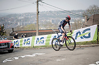 Eddie Dunbar (IRE/INEOS Grenadiers) suffering up the infamous Mur de Huy<br /> <br /> 85th La Flèche Wallonne 2021 (1.UWT)<br /> 1 day race from Charleroi to the Mur de Huy (BEL): 194km<br /> <br /> ©kramon