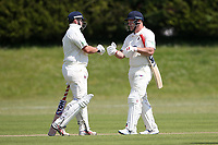 J Sorrell (L) and C Sains of Hornchurch during Billericay CC vs Hornchurch CC (batting), Hamro Foundation Essex League Cricket at the Toby Howe Cricket Ground on 12th June 2021