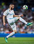 Karim Benzema of Real Madrid in action during the La Liga 2017-18 match between Real Madrid and Athletic Club Bilbao at Estadio Santiago Bernabeu on April 18 2018 in Madrid, Spain. Photo by Diego Souto / Power Sport Images
