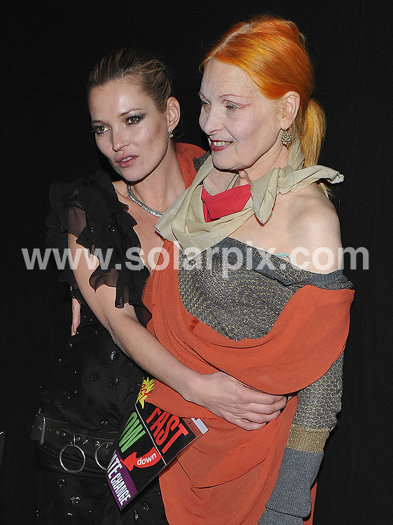 **ALL ROUND PICTURES FROM SOLARPIX.COM**.**WORLDWIDE SYNDICATION RIGHTS**.Press room and backstage at the British Fashion Awards 2009.  Held at the Royal Courts of Justice, Strand, London, UK.  9 December 2009..This pic: Kate Moss and Vivienne Westwood..JOB REF: 10368 SSD     DATE: 09_12_2009.**MUST CREDIT SOLARPIX.COM OR DOUBLE FEE WILL BE CHARGED**.**MUST NOTIFY SOLARPIX OF ONLINE USAGE**.**CALL US ON: +34 952 811 768 or LOW RATE FROM UK 0844 617 7637**